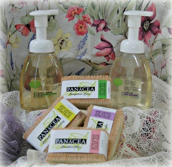 Panacea Olive Oil Body Soaps bottles and bars