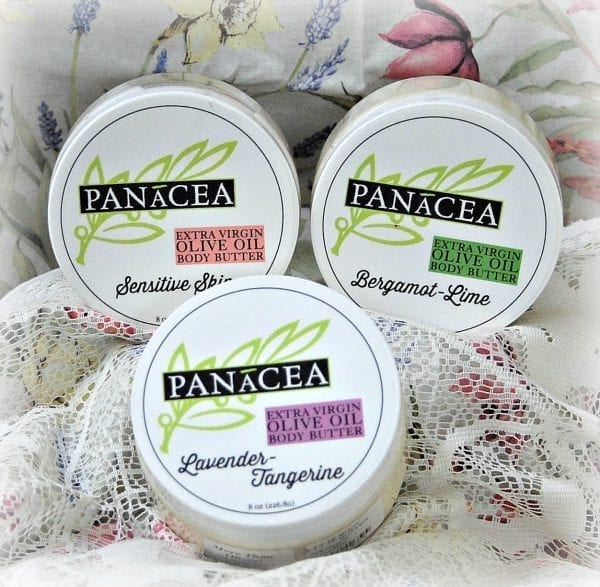 Olive Oil Body Butters in jars