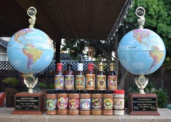 Robs BBQ Sauces and Awards