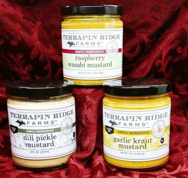 Terrapin Ridge Farms Mustards in jars