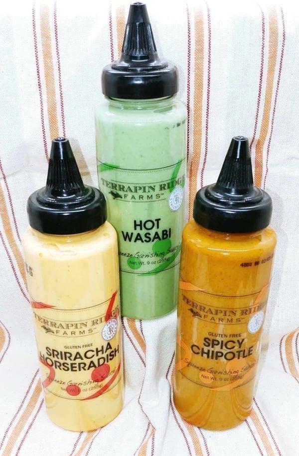 Terrapin Farms Garnishing Sauces in bottles
